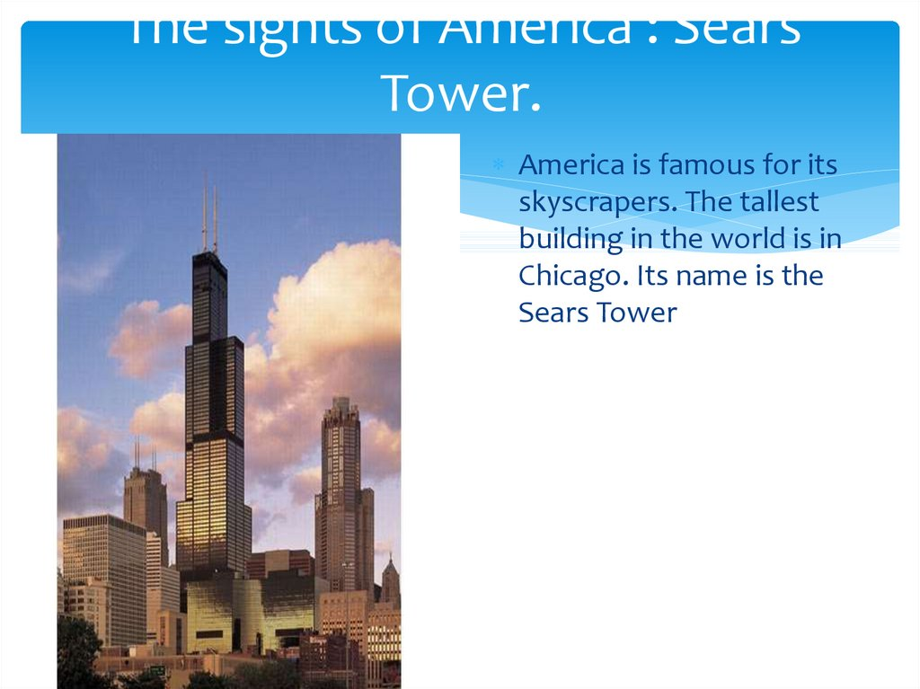 The sights of America : Sears Tower.