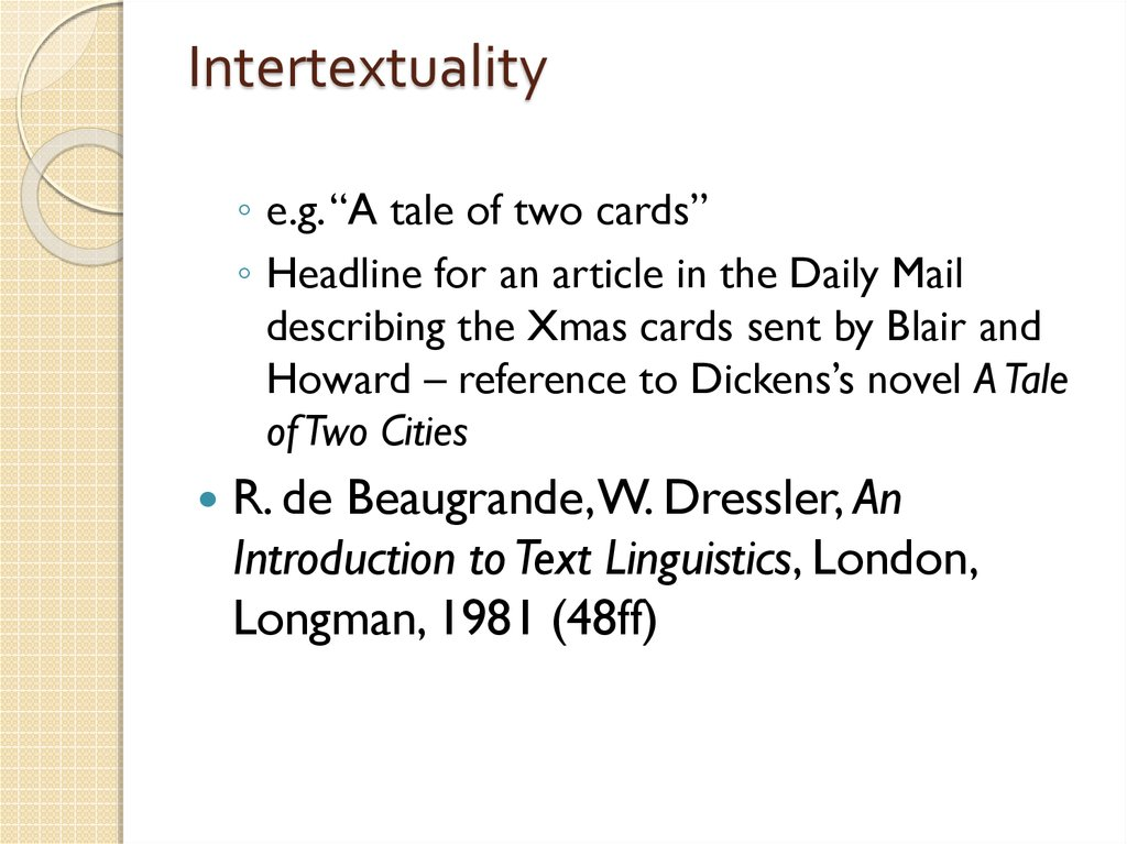 Intertextuality