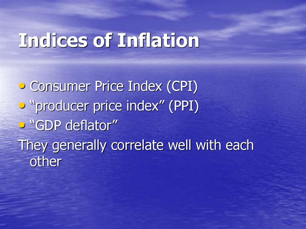 Indices of Inflation
