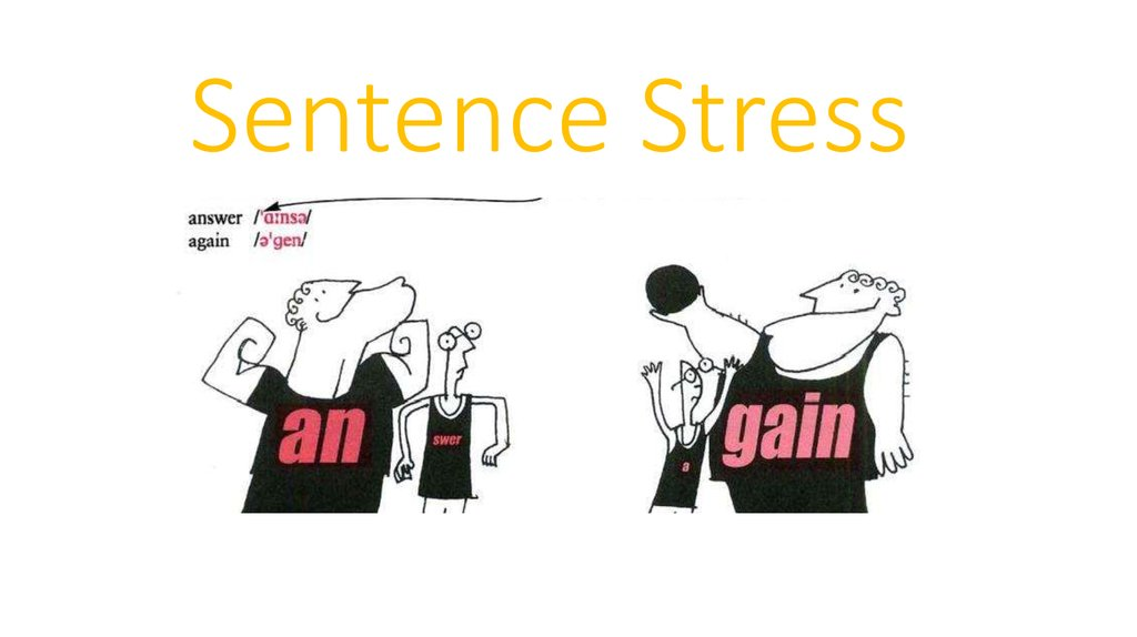 Sentence Stress graphic