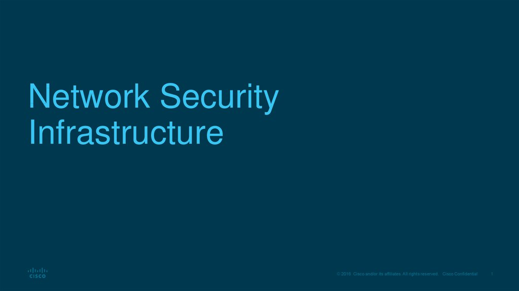 Network Security Infrastructure