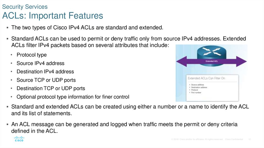 Security Services ACLs: Important Features