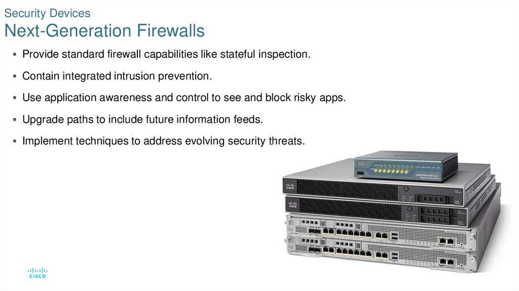 Security Devices Next-Generation Firewalls