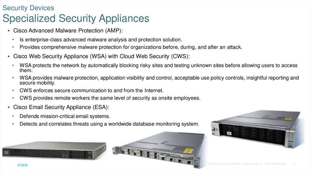 Security Devices Specialized Security Appliances