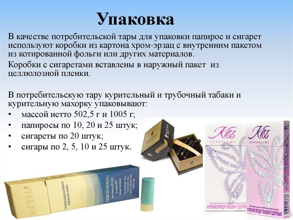 потребительская упаковка табачных изделий