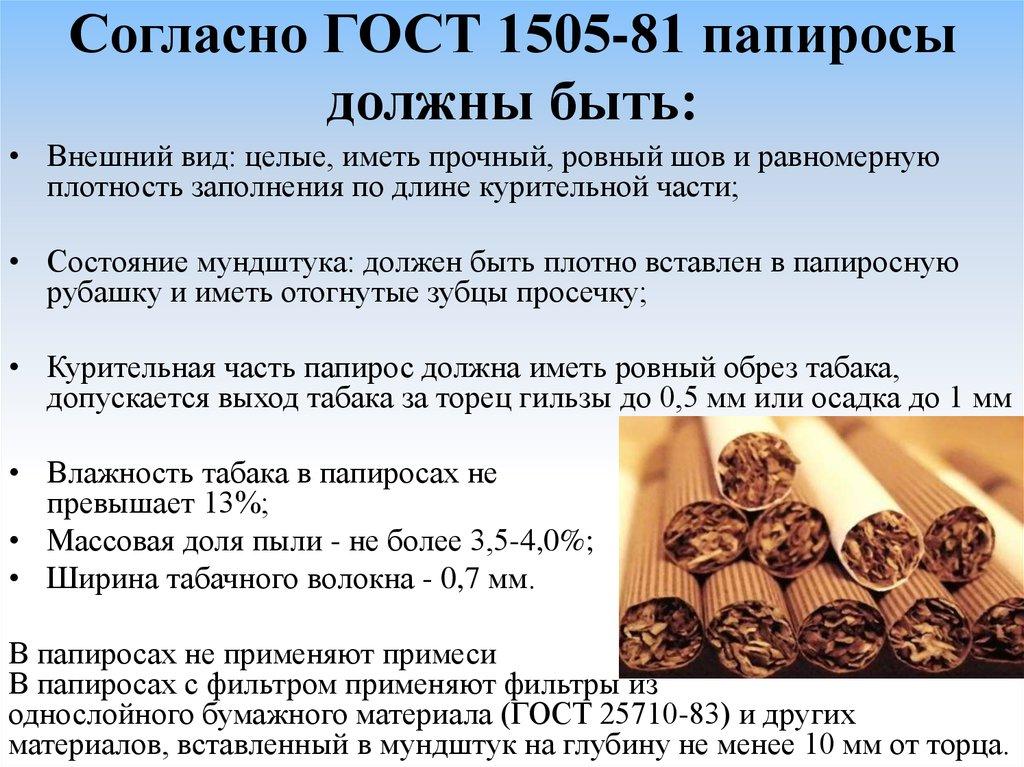 Классификация табачных изделий по гост прибор для изготовления сигарет купить