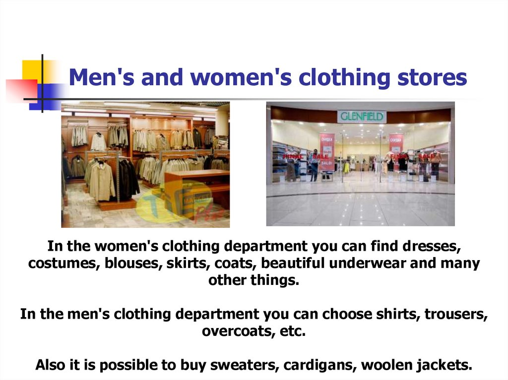 Men's and women's clothing stores