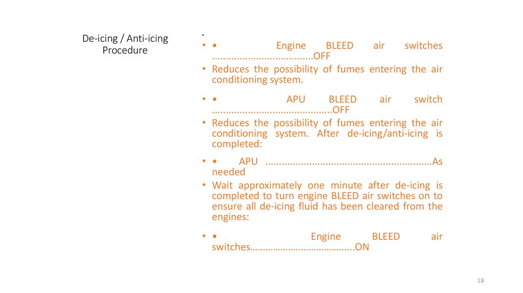 De-icing / Anti-icing Procedure