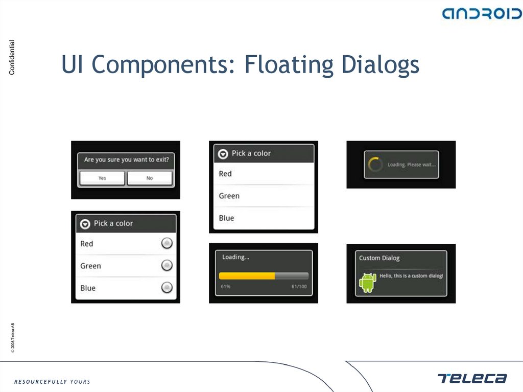 UI Components: Floating Dialogs