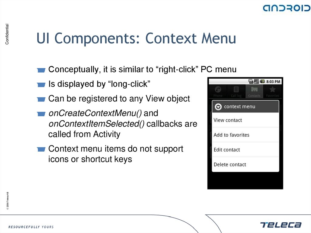 UI Components: Context Menu