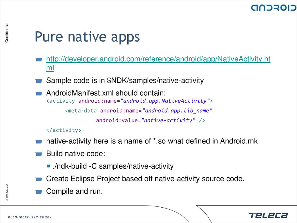Pure native apps