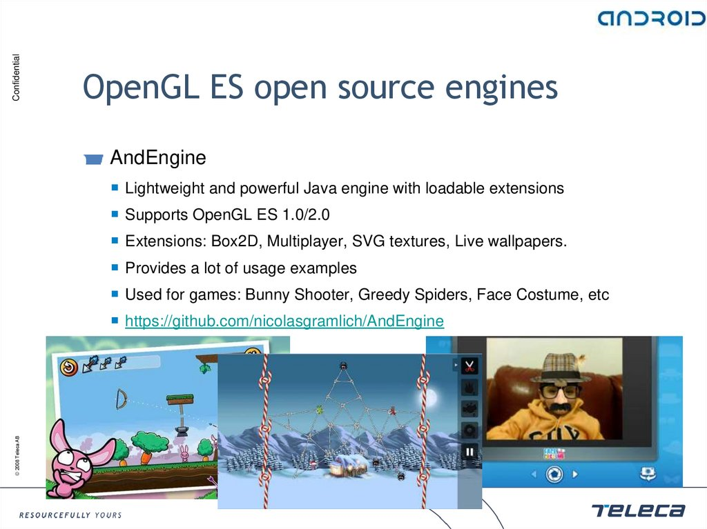 OpenGL ES open source engines