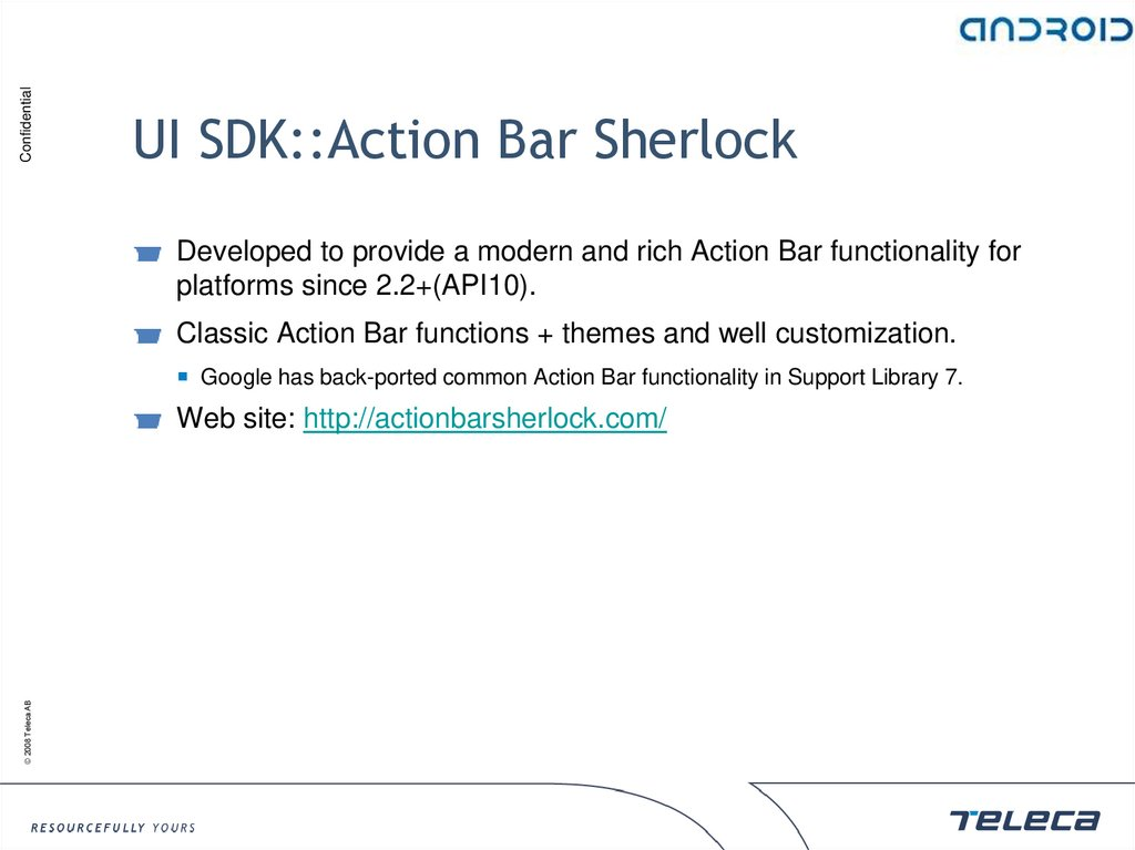 UI SDK::Action Bar Sherlock