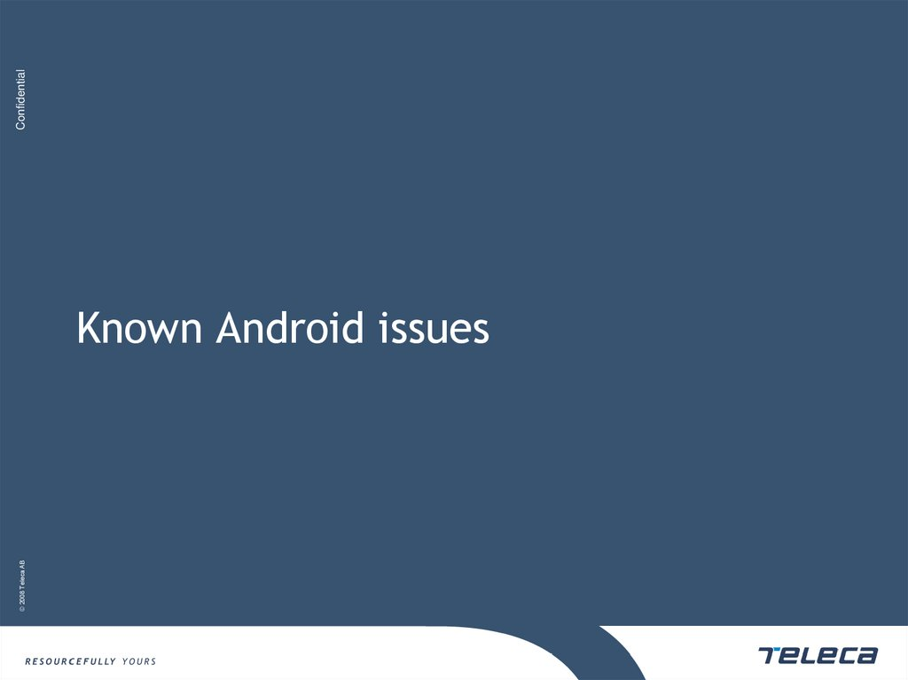 Known Android issues