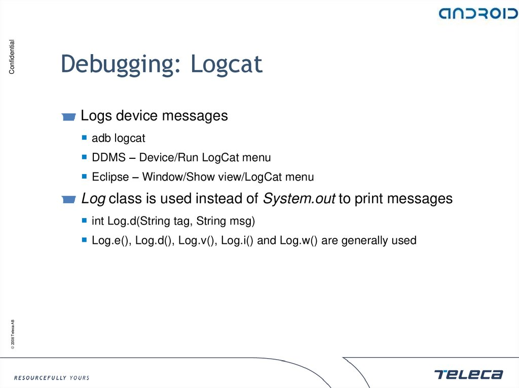 Debugging: Logcat