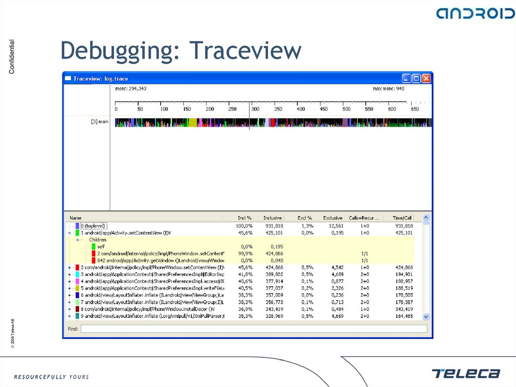 Debugging: Traceview