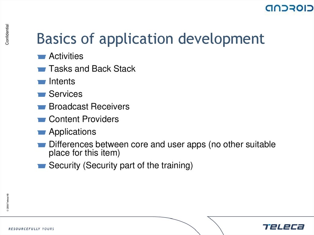 Basics of application development