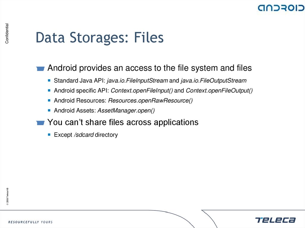 Data Storages: Files