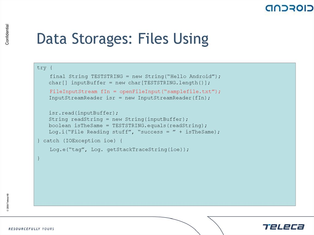 Data Storages: Files Using