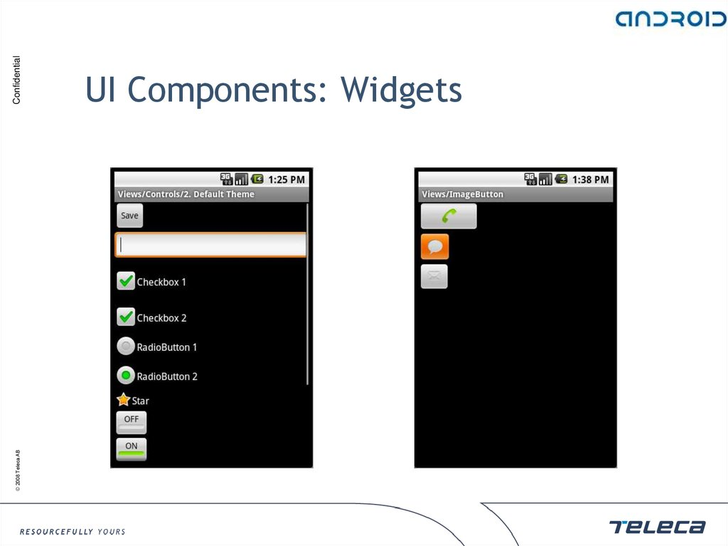 UI Components: Widgets