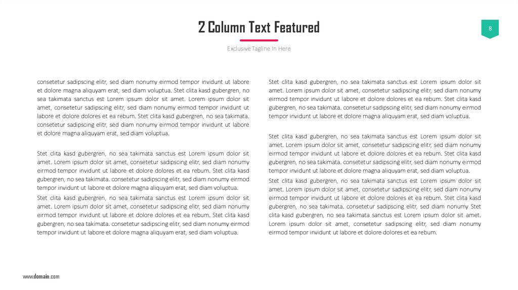 2 Column Text Featured