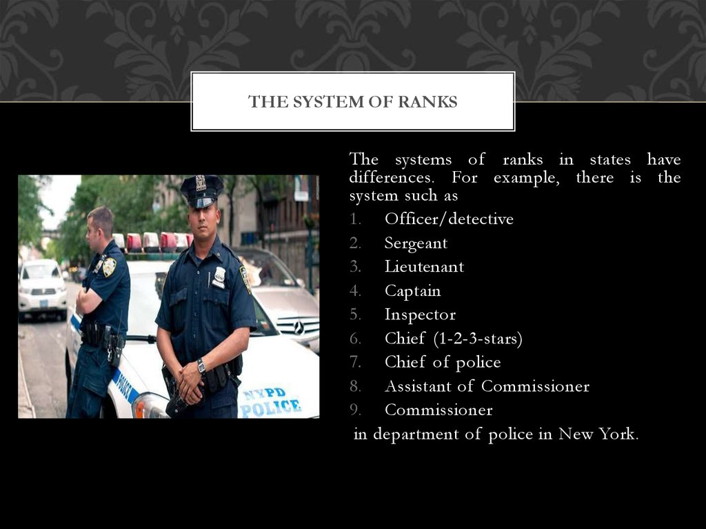 The system of ranks