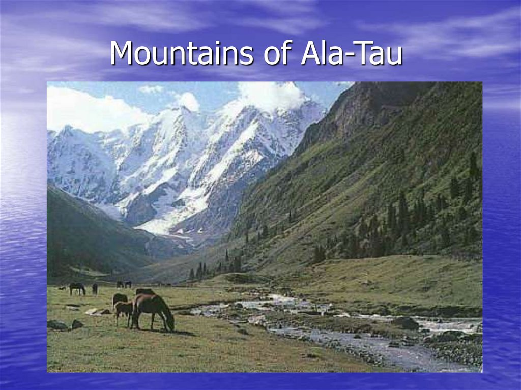 Mountains of Ala-Tau