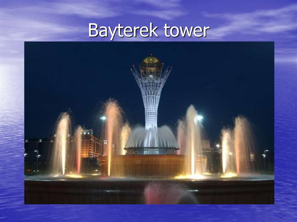 Bayterek tower