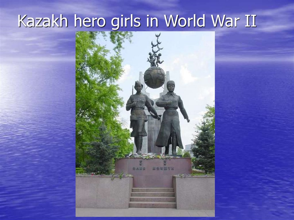 Kazakh hero girls in World War II