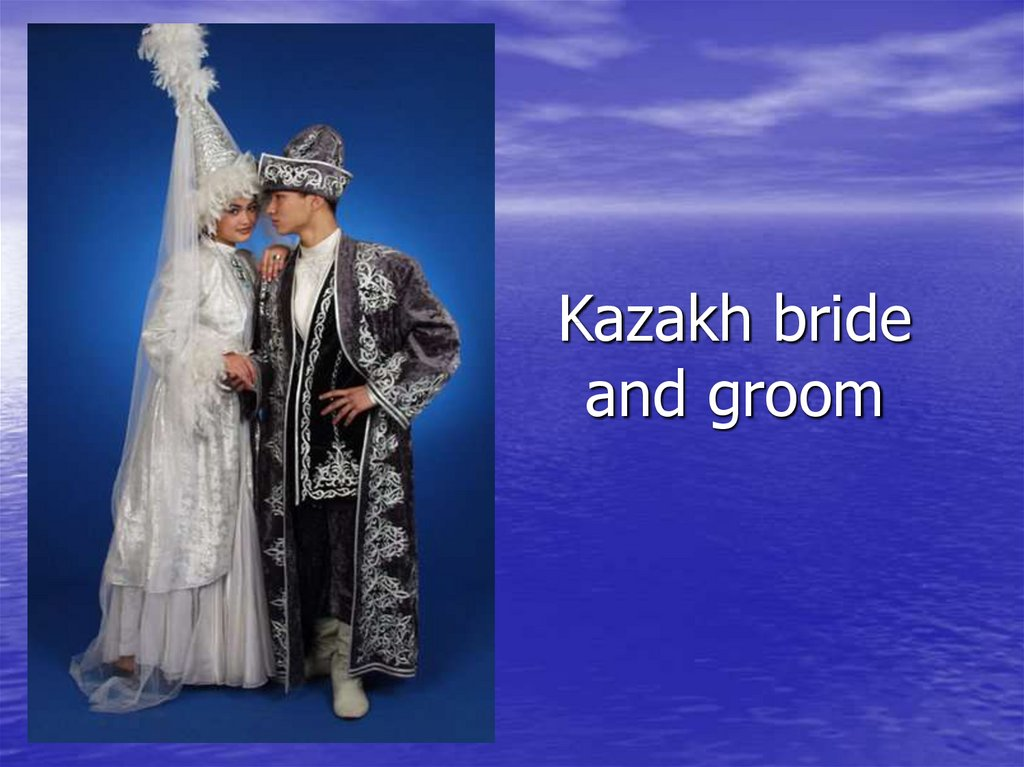 Kazakh bride and groom