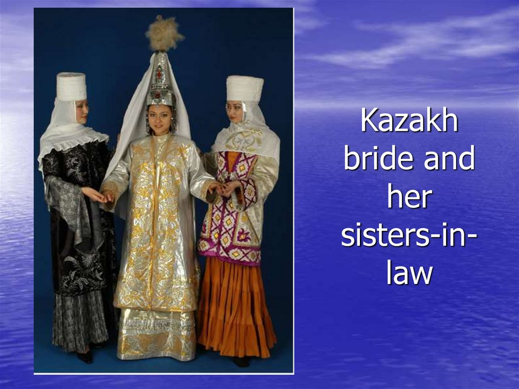 Kazakh bride and her sisters-in-law