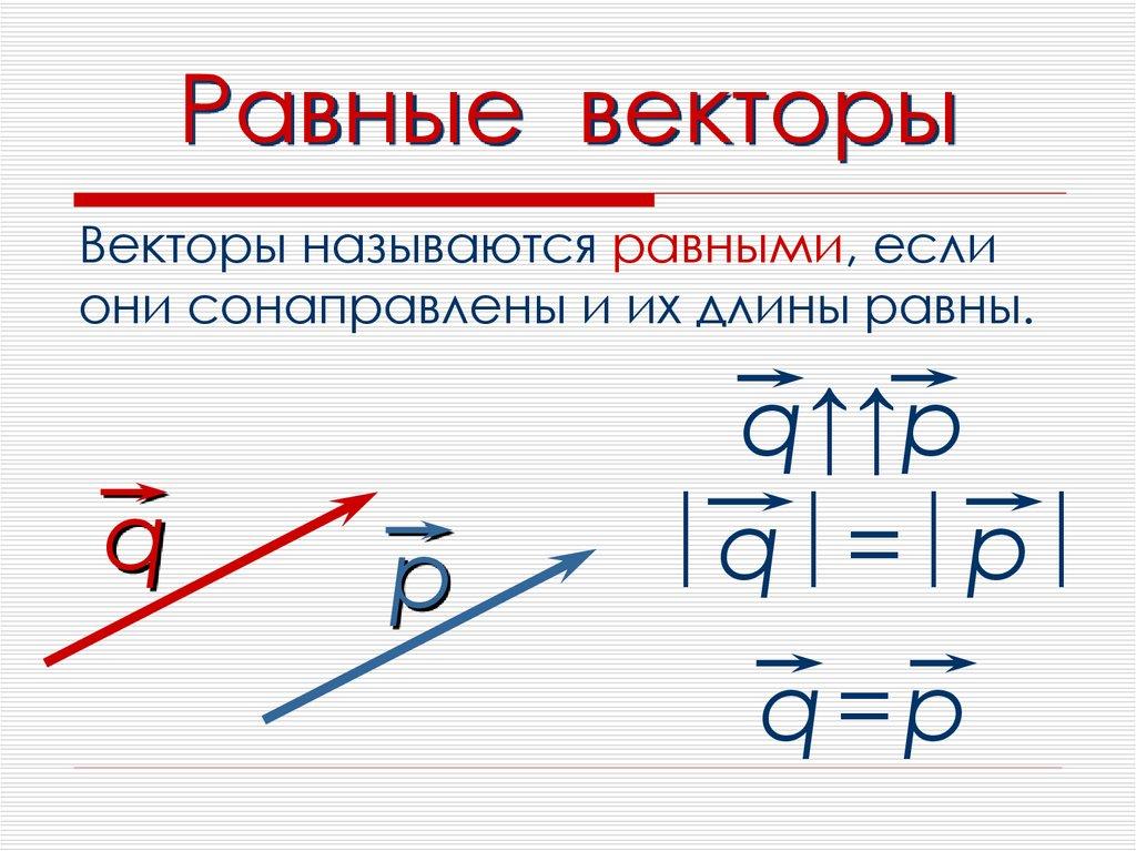 равные вектора картинка предметы