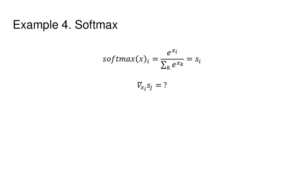 Example 4. Softmax