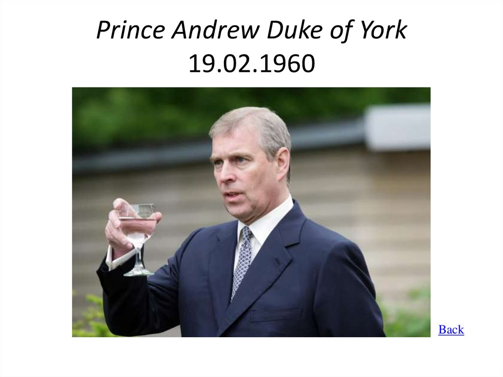 Prince Andrew Duke of York 19.02.1960