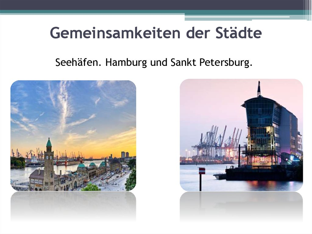 Partnerstädte Hamburg