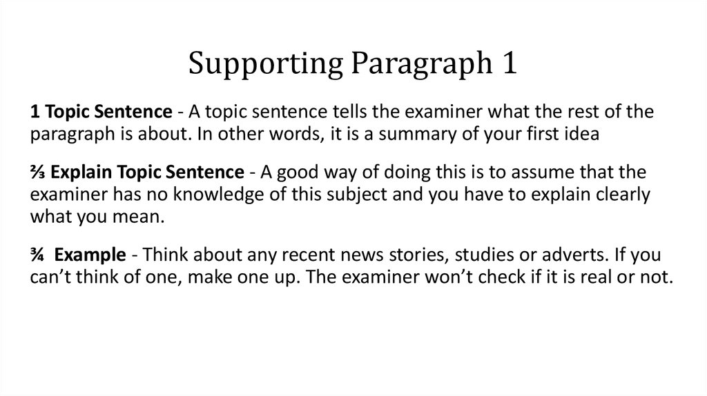 Supporting Paragraph 1