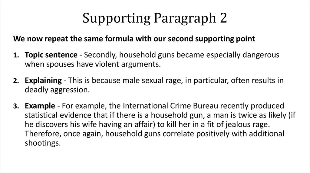 Supporting Paragraph 2