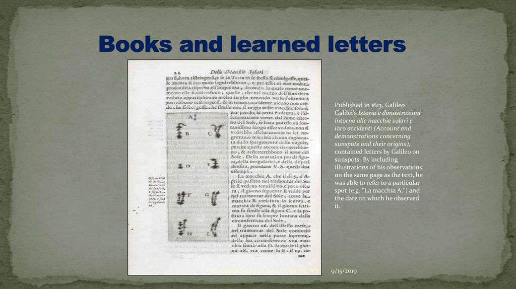 Books and learned letters