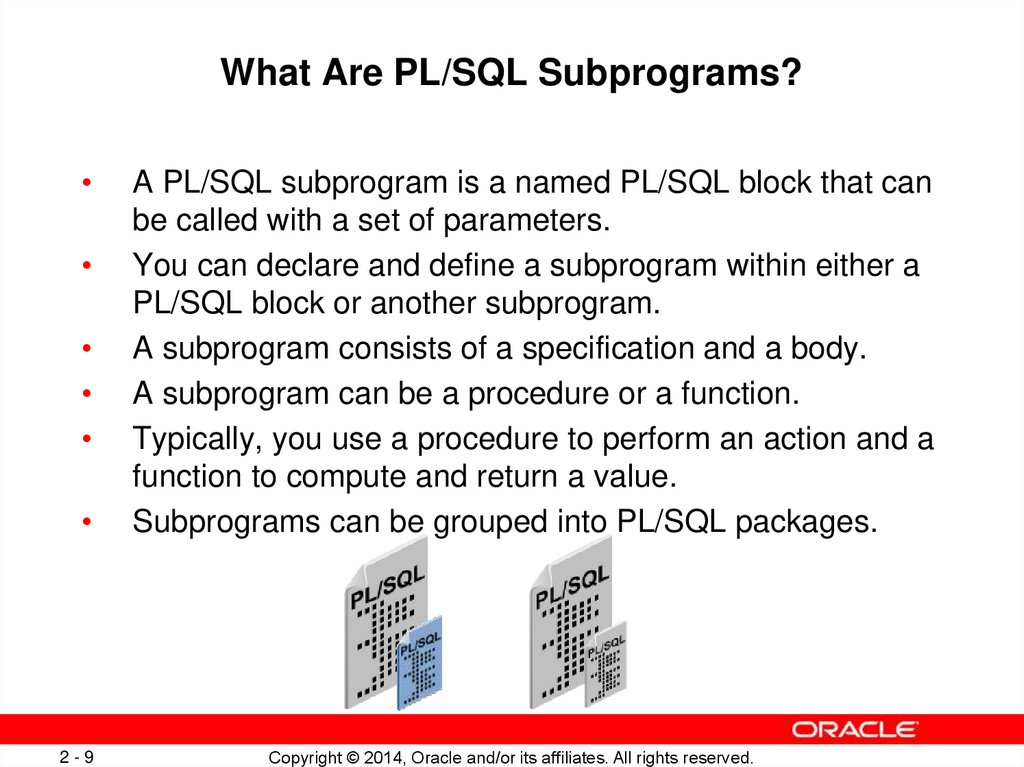 What Are PL/SQL Subprograms?