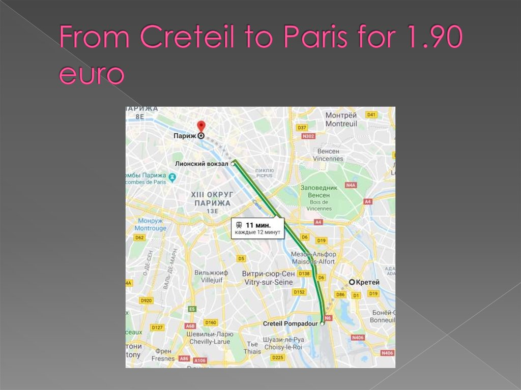 From Creteil to Paris for 1.90 euro