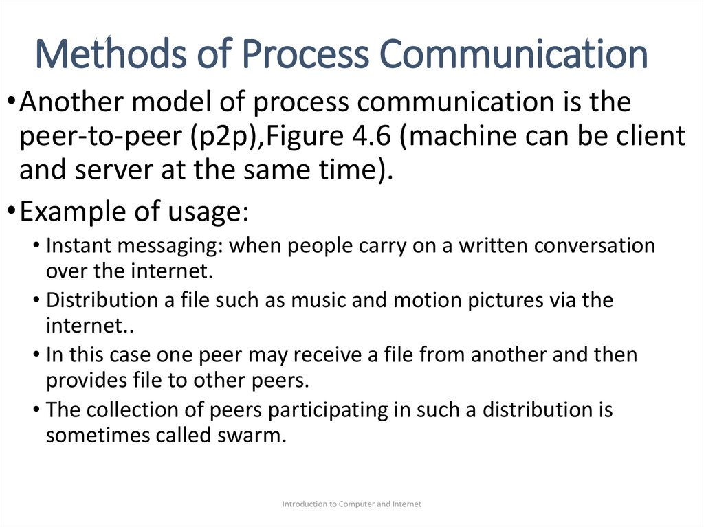 Methods of Process Communication