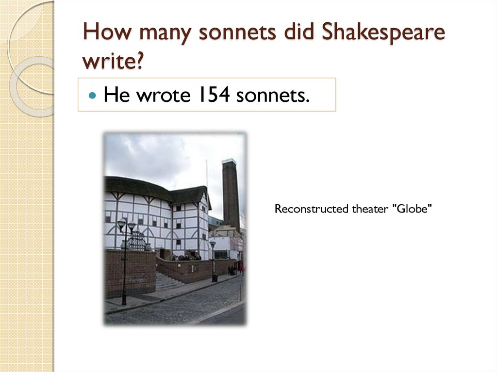How many sonnets did Shakespeare write?