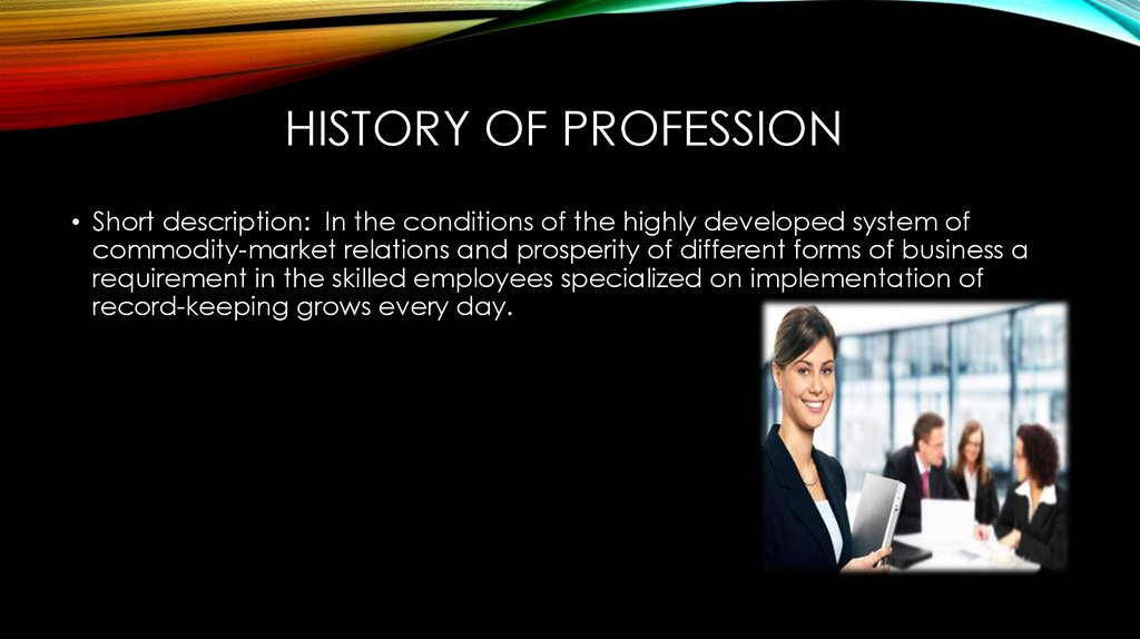 History of profession