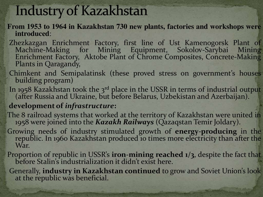 Industry of Kazakhstan