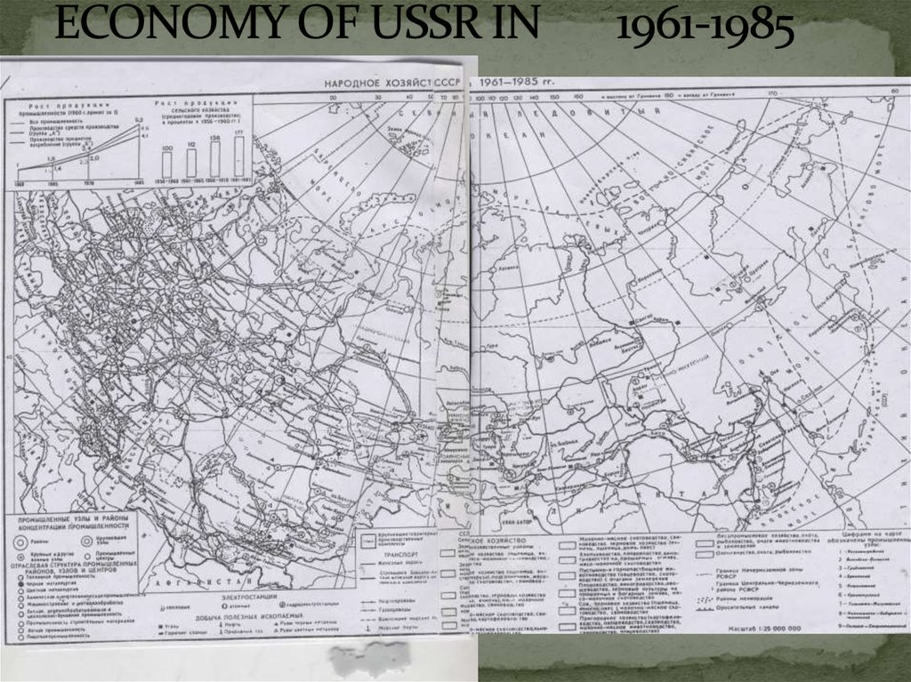 ECONOMY OF USSR IN 1961-1985