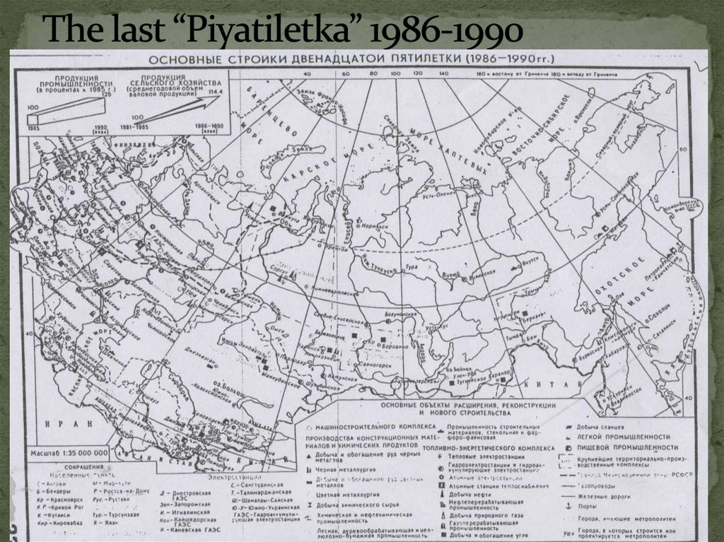 "The last ""Piyatiletka"" 1986-1990"