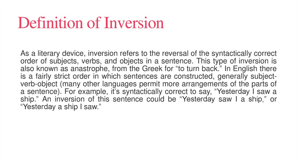 Definition of Inversion