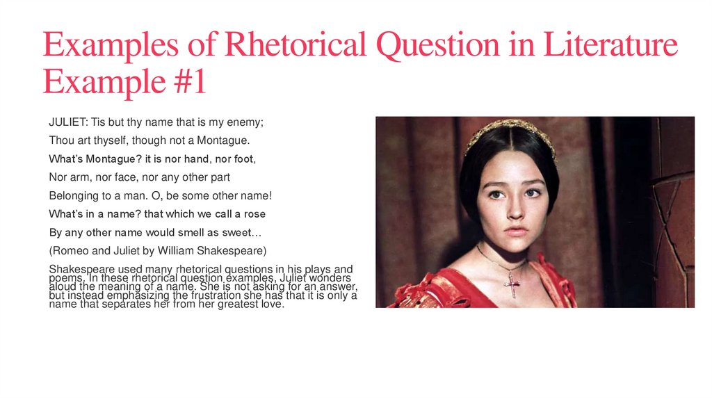 Examples of Rhetorical Question in Literature Example #1
