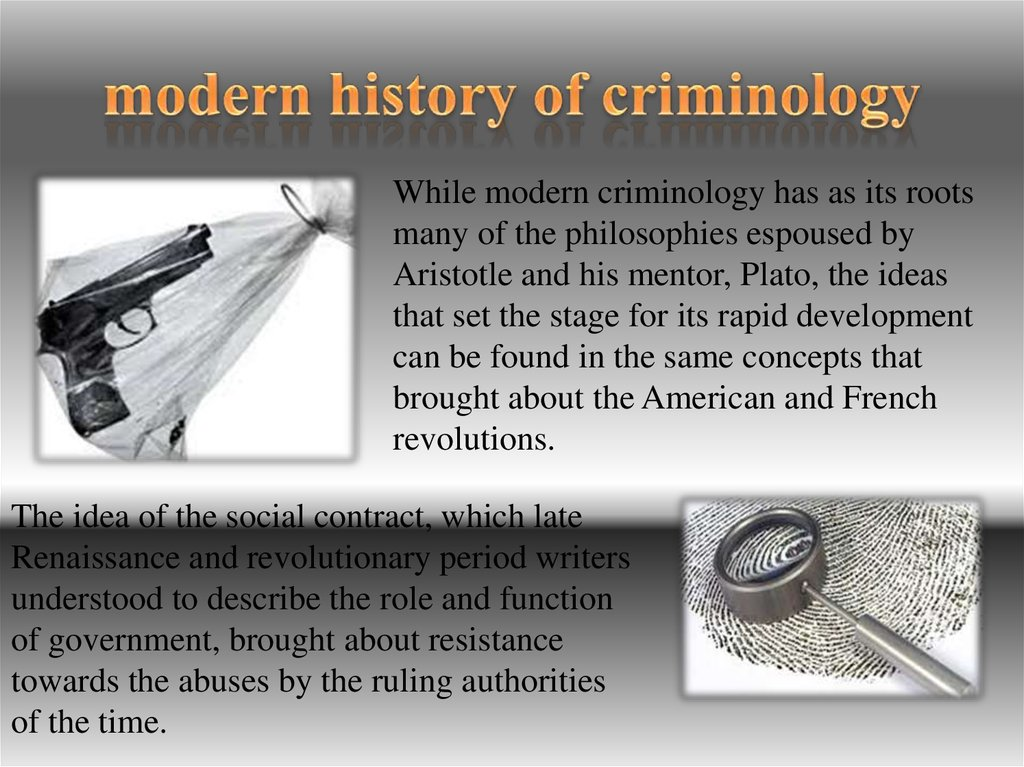 modern history of criminology