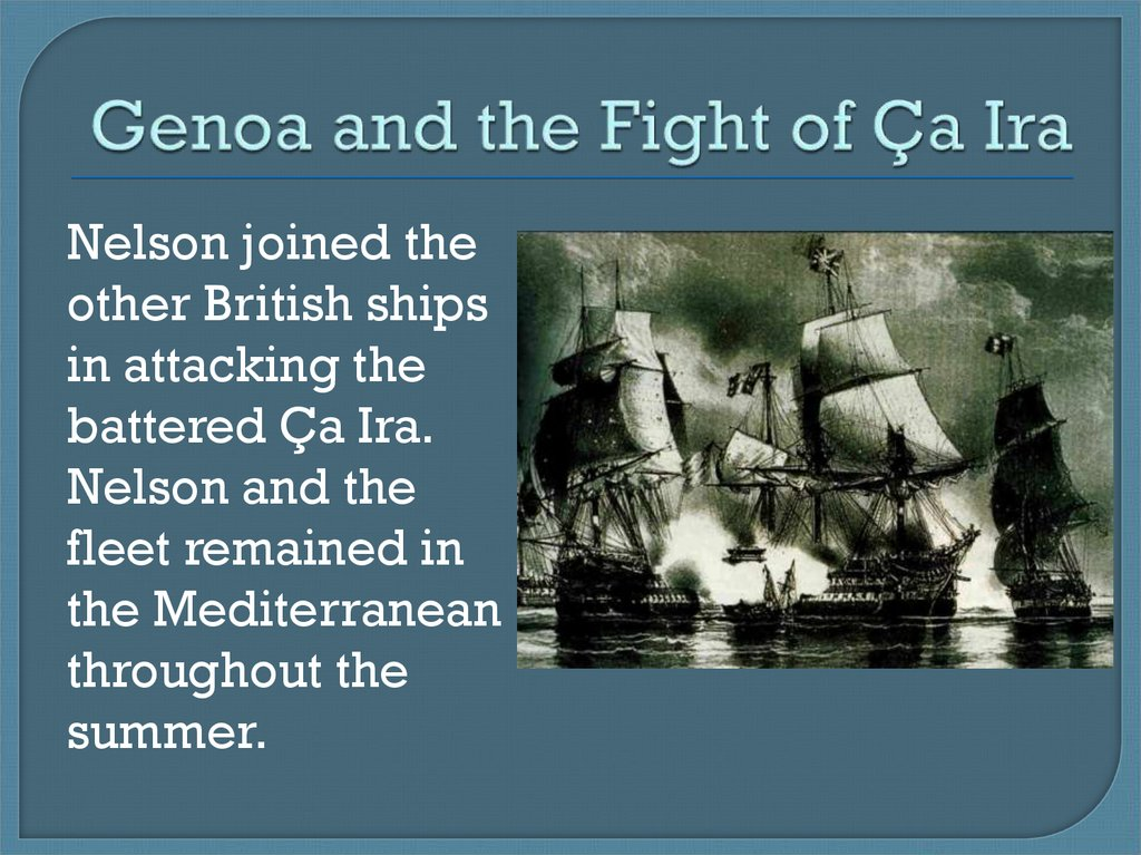Genoa and the Fight of Ça Ira